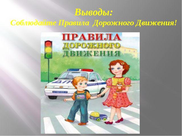 Выводы: Соблюдайте Правила Дорожного Движения!