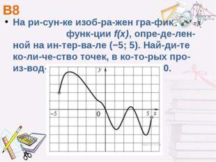 В8 На рисунке изображен график функцииf(x), определенной на интер