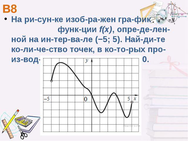 В8 На рисунке изображен график функцииf(x), определенной на интер...