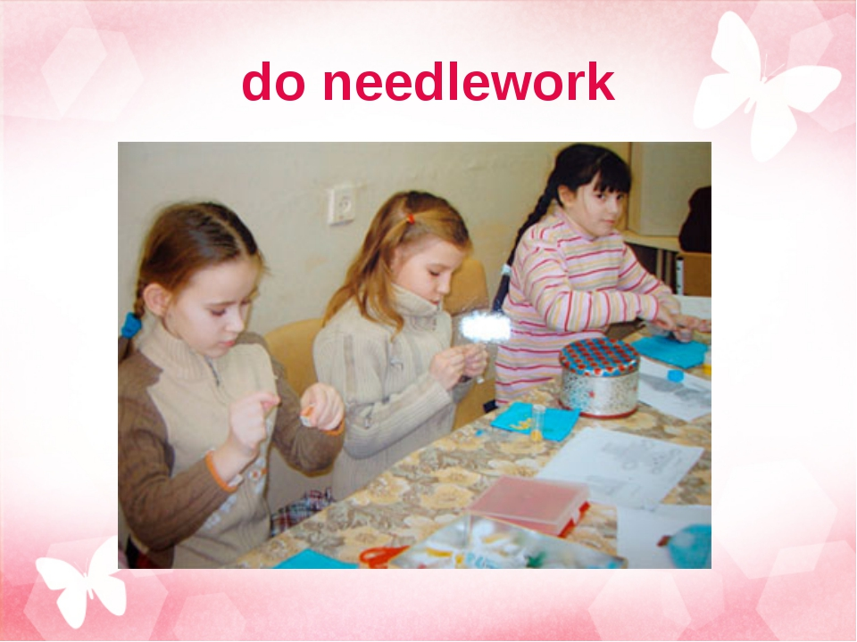 do needlework