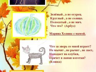 Конь бежит, Земля - дрожит? (Гром) Полина Ведехина с мамой. Зелёный , а не о