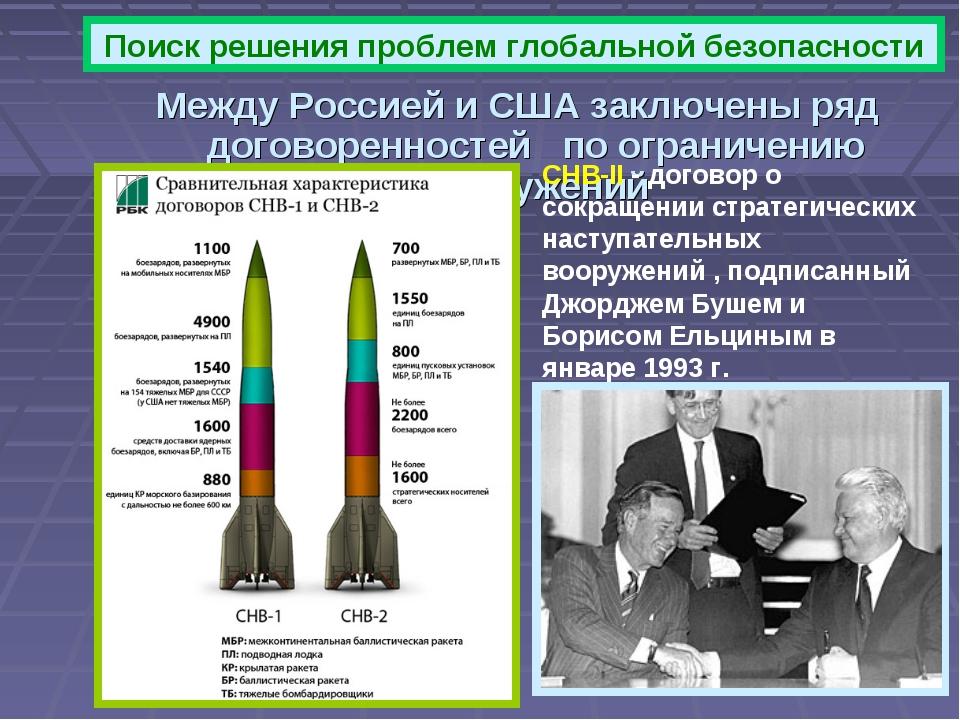 Между Россией и США заключены ряд договоренностей по ограничению вооружений П...