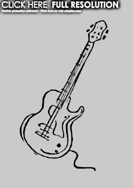 Electric Guitars Drawings