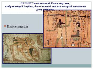 ПАПИРУС из египетской Книги мертвых, изображающий Анубиса, бога с головой шак