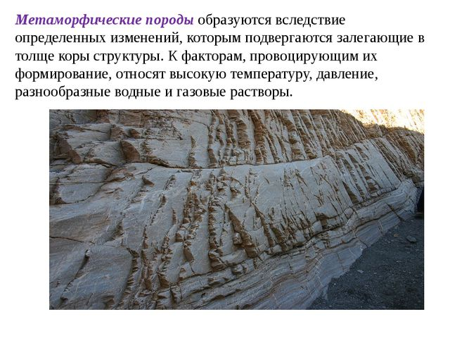 Метаморфические породы образуются вследствие определенных изменений, которым...