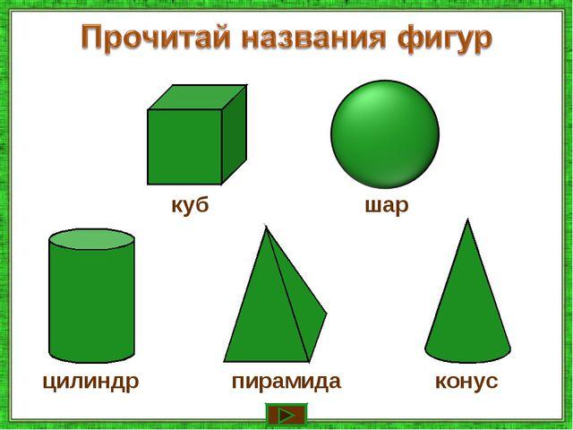 шар куб цилиндр пирамида конус