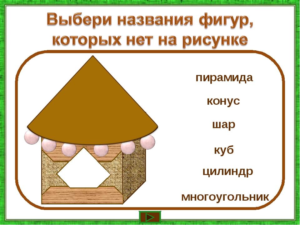 конус шар многоугольник куб цилиндр пирамида