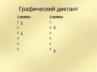 Графический диктант 1уровень 1. 2. 3. 4. 5. 6. 2уровень 1. 2. 3. 4. 5. 6.
