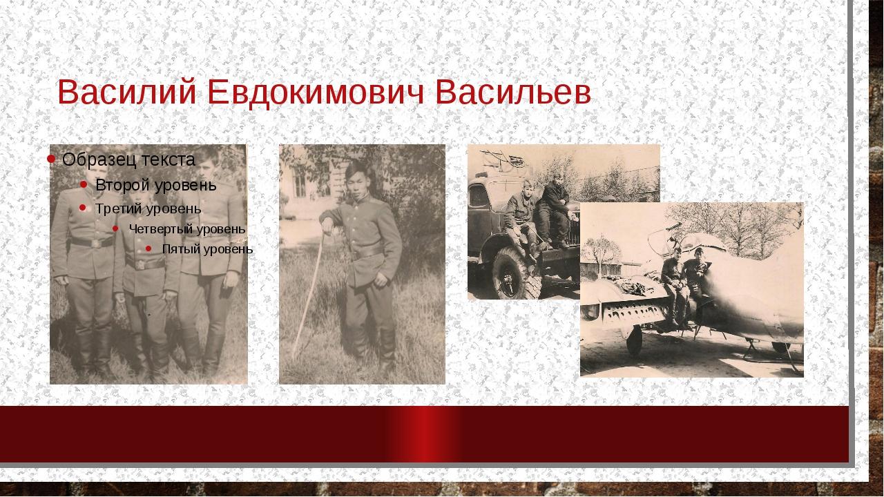 Василий Евдокимович Васильев