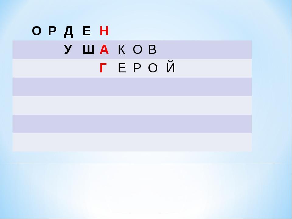 ОРДЕН УШАКОВ ГЕРОЙ...