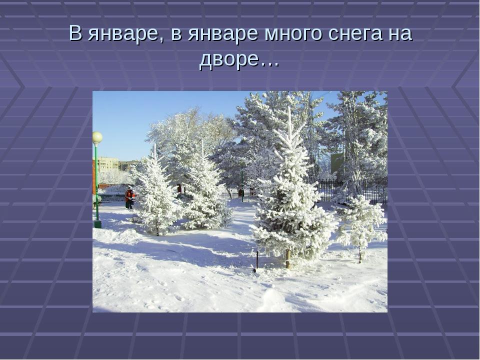 В январе, в январе много снега на дворе…