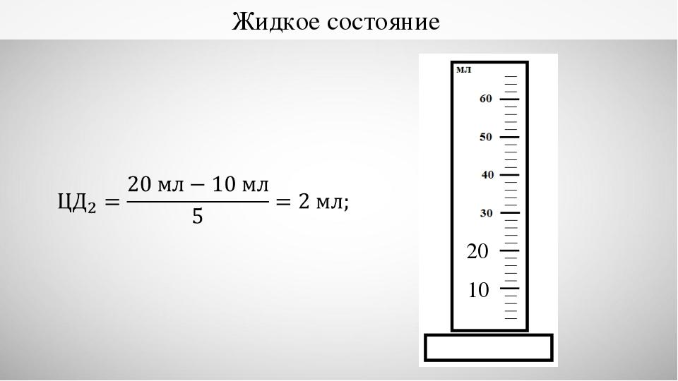Жидкое состояние 20 10