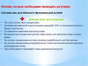 Лечение, которое необходимо проводить регулярно Система зон для больного бро