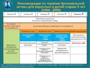 Рекомендации по терапии бронхиальной астмы для взрослых и детей старше 5 лет