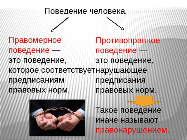 Поведение человека. Правомерное поведение — это поведение, которое соответств...