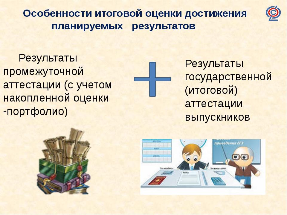 Результаты промежуточной аттестации (с учетом накопленной оценки -портфолио)...
