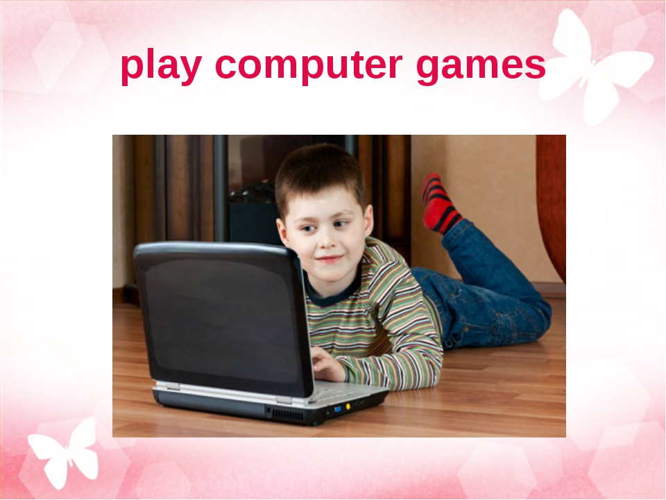 play computer games