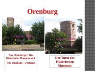 Orenburg Das Orenburger Das Historische Museum und Das Puschkin - Denkmal Der