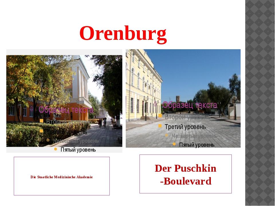 Orenburg Die Staatliche Medizinische Akademie Der Puschkin -Boulevard