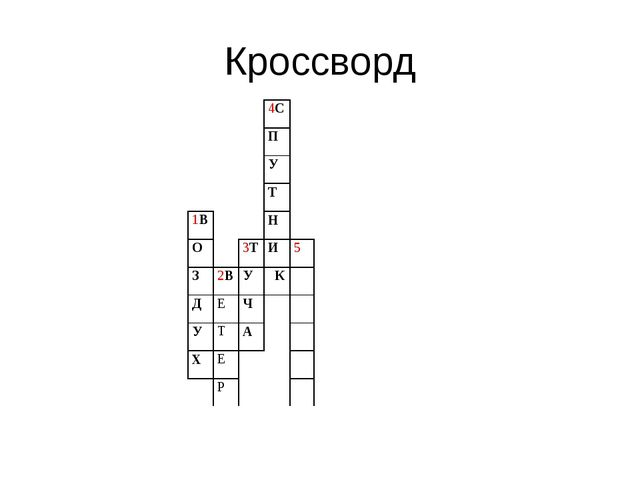 Кроссворд