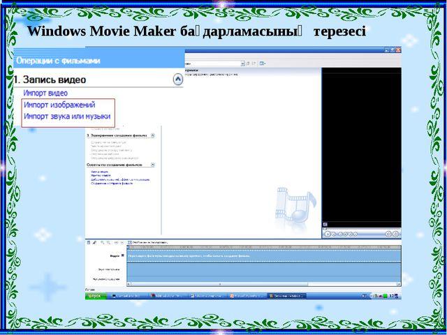 Windows Movie Maker бағдарламасының терезесі