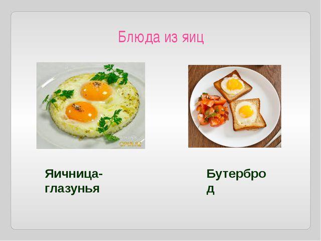 Блюда из яиц Яичница-глазунья Бутерброд