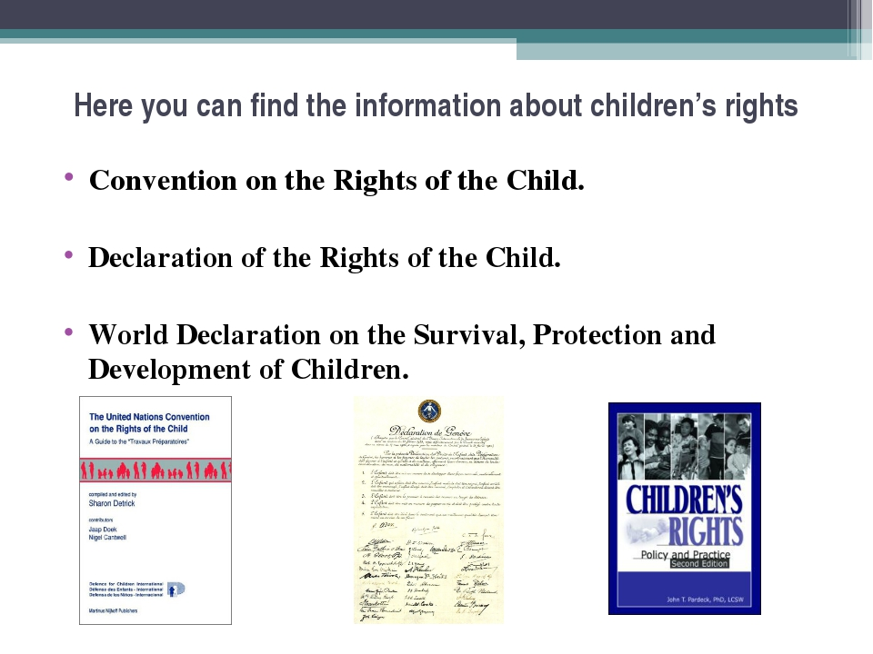 Here you can find the information about children's rights Convention on the R...