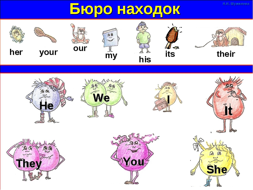 Бюро находок her our your my his its their He We I It They You She Н.Н. Шумил...