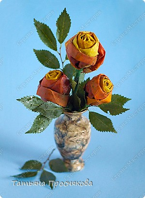 Мастер-класс Моделирование: Розы из кленовых листьев Листья День учителя