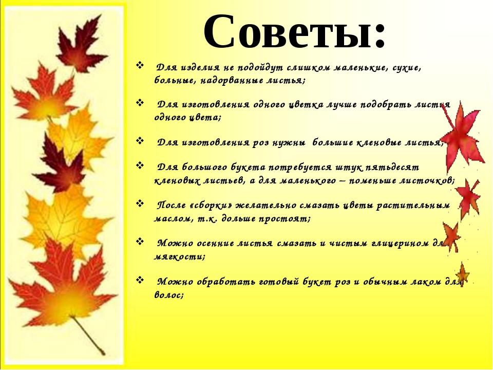 Для изделия не подойдут слишком маленькие, сухие, больные, надорванные листь...
