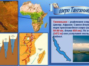 Танганьика – рифтовое озеро в Центр. Африке. Самое длинное в мире пресноводн