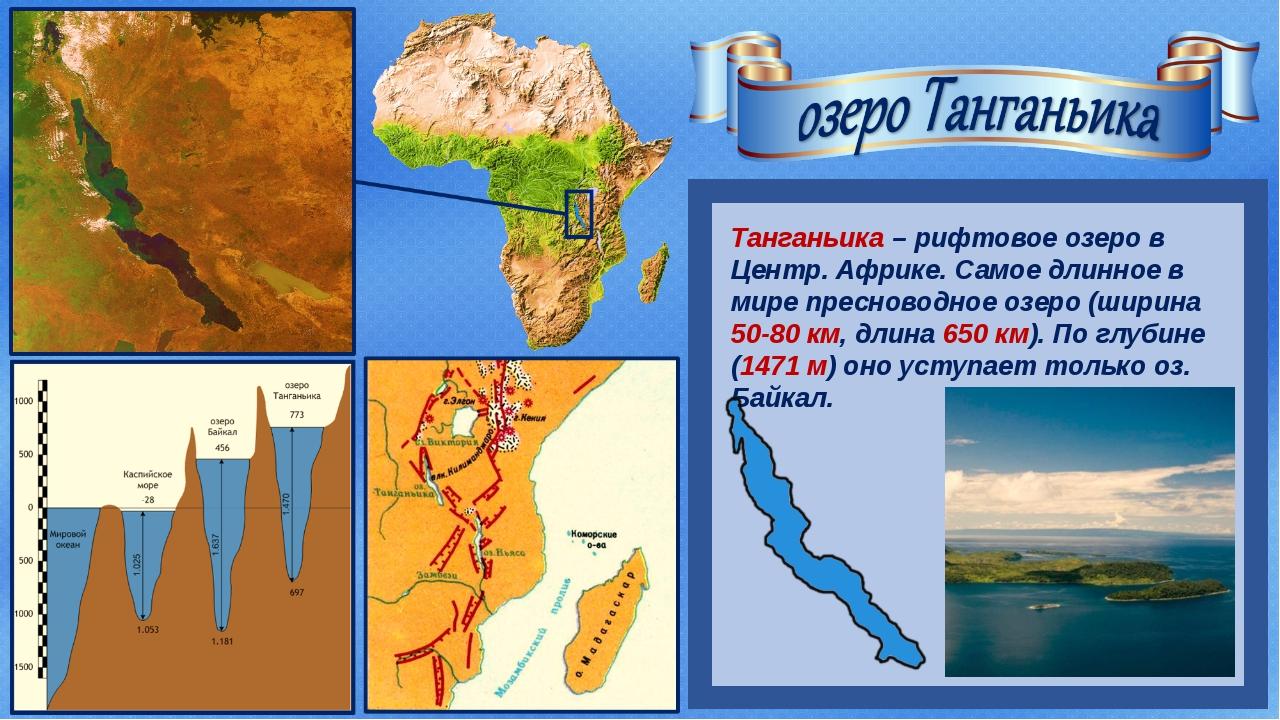 Танганьика – рифтовое озеро в Центр. Африке. Самое длинное в мире пресноводн...