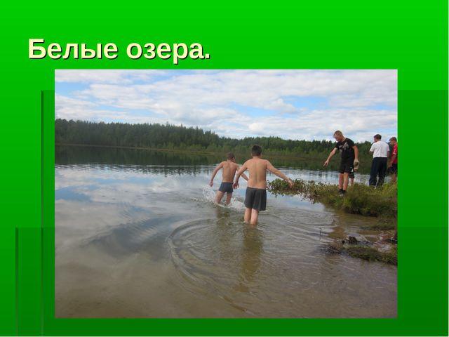 Белые озера.