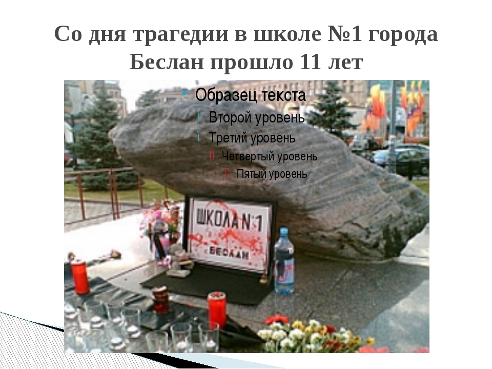 Со дня трагедии в школе №1 города Беслан прошло 11 лет