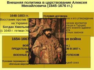 Внешняя политика в царствование Алексея Михайловича (1645-1676 гг.) 1648-1653