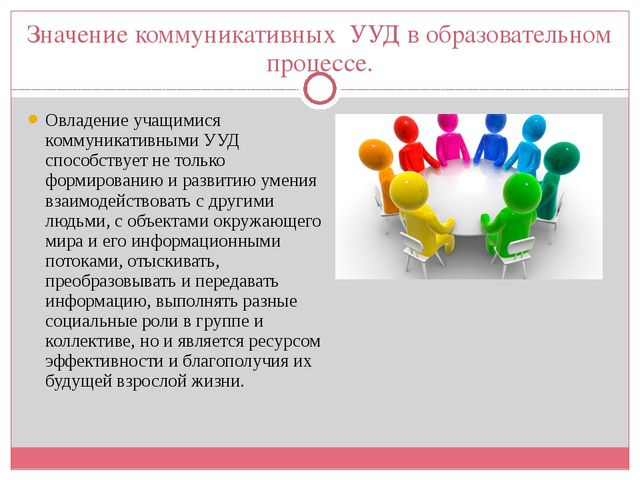 Значение коммуникативных УУД в образовательном процессе. Овладение учащимися...