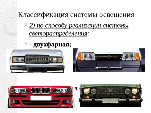 Классификация системы освещения 2) по способу реализации системы светораспред...