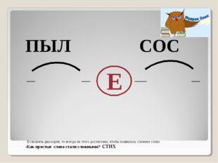 ПЫЛ СОС Е -Как простые слова стали сложными? стих Если взять два корня, то в