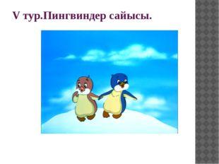 V тур.Пингвиндер сайысы.