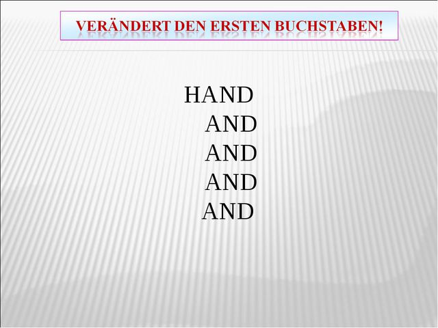 HAND AND AND AND AND