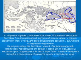 4 - лагунные, изредка с морскими прослоями, отложения Сахельского бассейна; 5