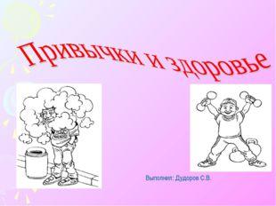 Выполнил: Дудоров С.В.
