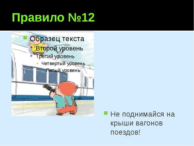 Правило №12 Не поднимайся на крыши вагонов поездов!