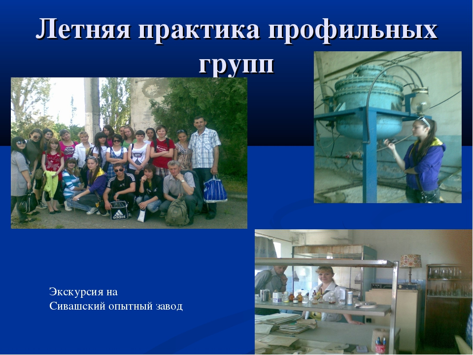 Летняя практика профильных групп Экскурсия на Сивашский опытный завод