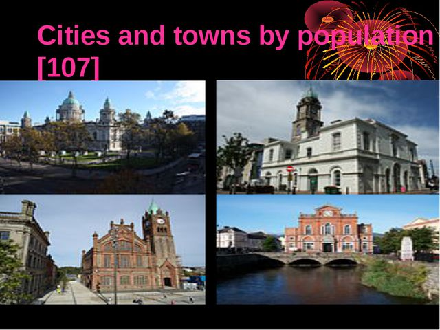 Cities and towns by population[107] ]