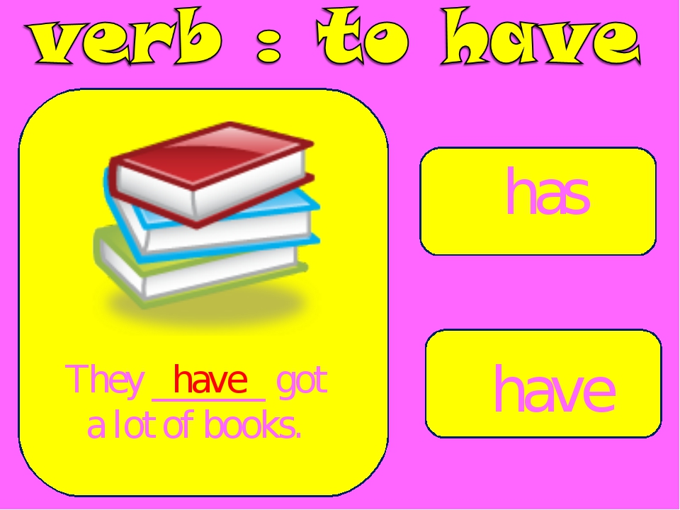 has have They ______ got a lot of books. have