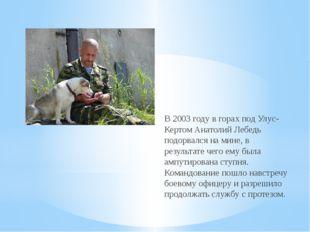 В 2003 году в горах под Улус-Кертом Анатолий Лебедь подорвался на мине, в рез