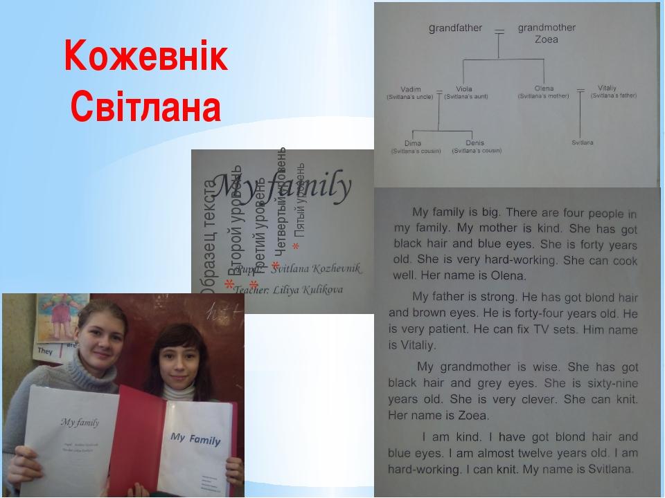 Кожевнік Світлана