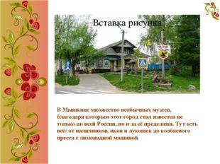 В Мышкине множество необычных музеев, благодаря которым этот город стал изве
