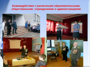 Схема сотрудничества Взаимодействие с различными образовательными, общественн